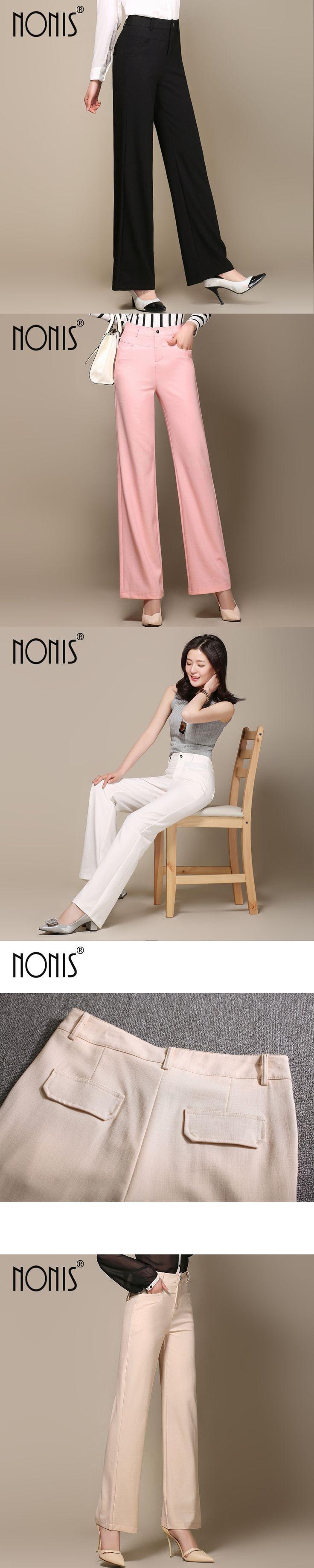 Nonis 2017 women wide leg pants femme Cotton Linen trousers Spring Summer pantalon capris plus size S-3Xl loose pant