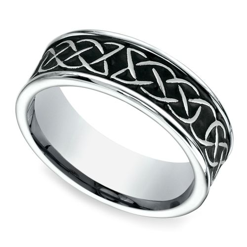 blackened celtic knot mens wedding ring in cobalt httpswwwbrilliance - Man Wedding Rings