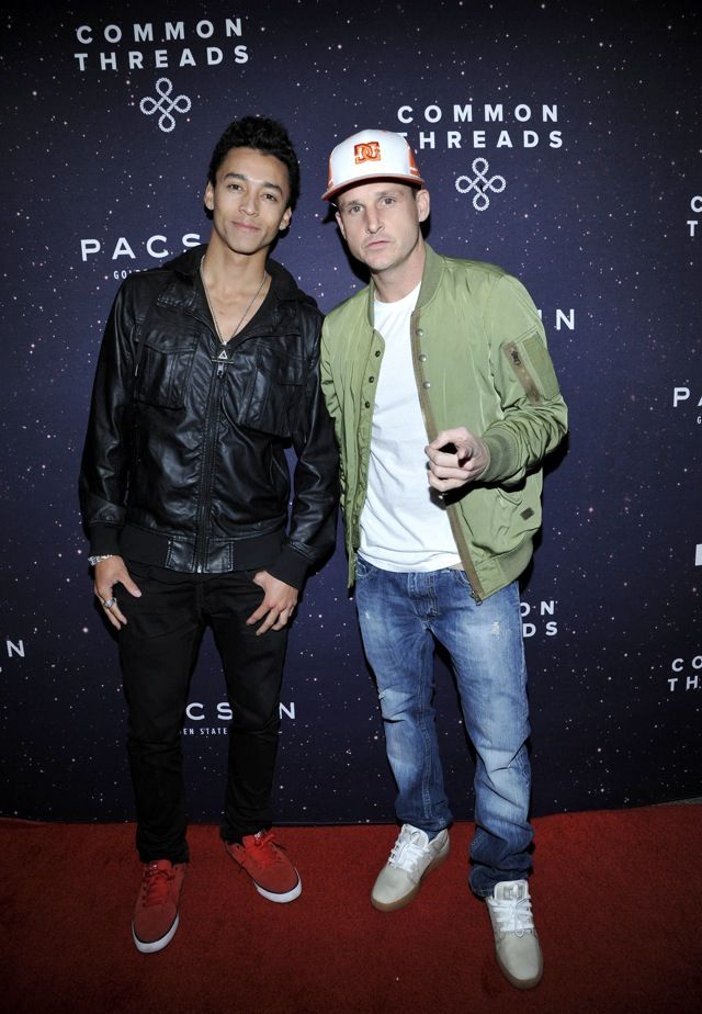 Rob Dydrek & Nyjah Huston at #CommonThreads