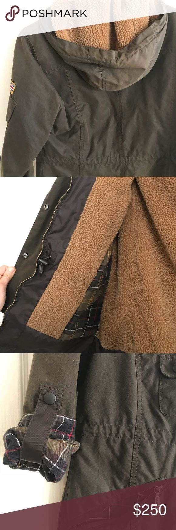 Barbour Coat with Shearling Interior UK 8/US 4