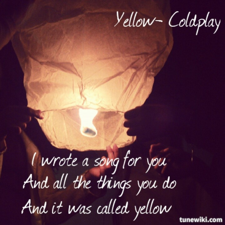 #Coldplay Wonderful song, wonderful meaning, Favourite Colour.