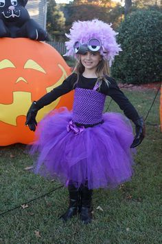 Evil purple minion inspired tutu dress