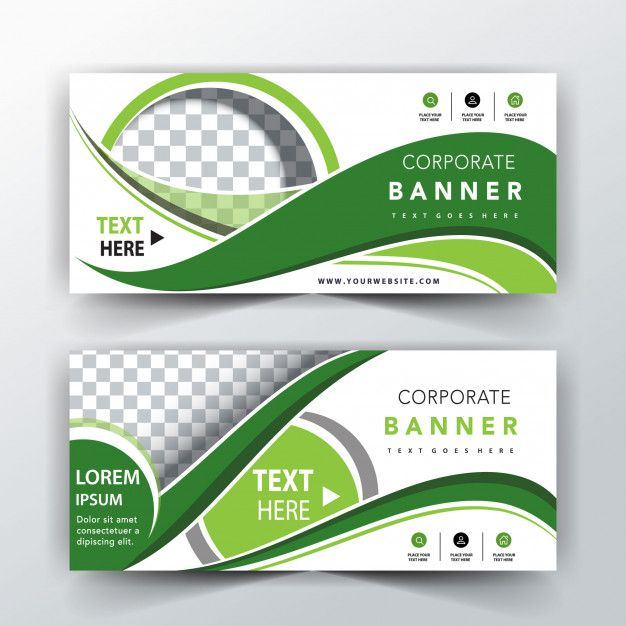Download Green Abstract Header Template For Free Vector Free Free Banner Templates Free Business Card Design