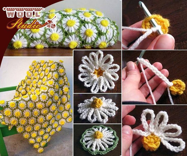 Oh, we just love this #vintage daisy motif pattern! For full pattern, click here: http://apost.link/36f. #WoolStudio #Yarnaddicts