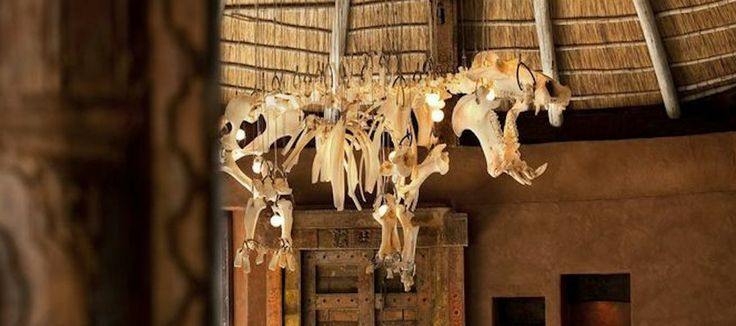 Hippo skeleton chandelier at Leobo