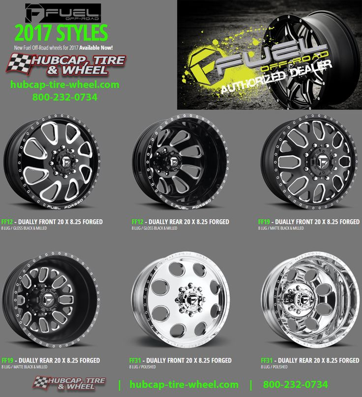 The New 2017 Fuel Forged Dually Wheels & Rims