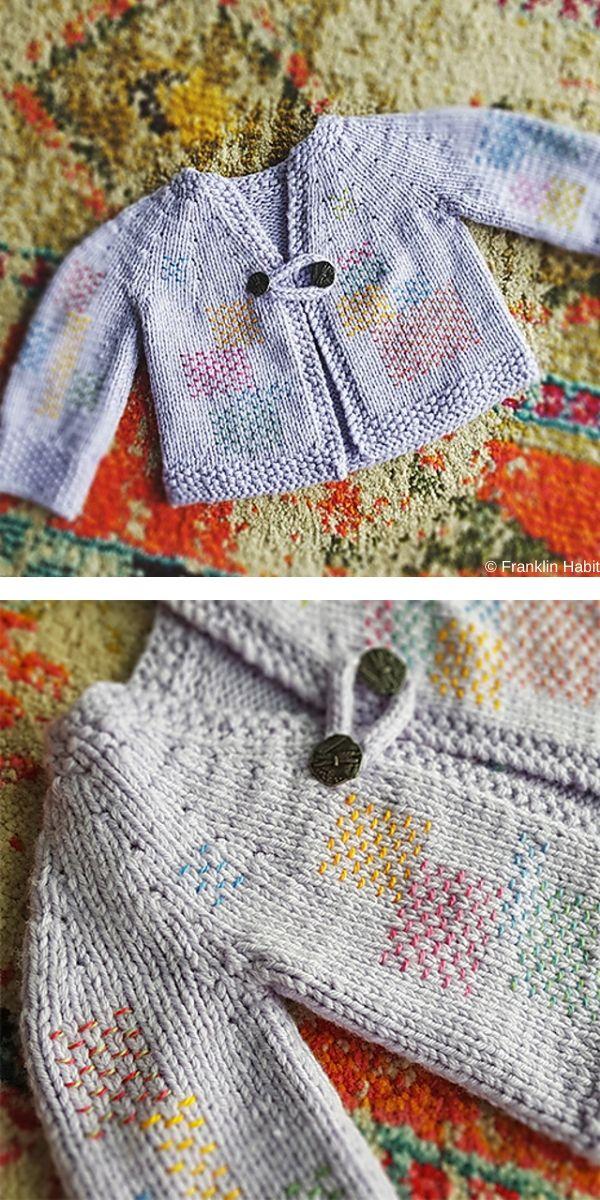 Pink Petals Baby Set Jacket And Tights Free Knitting Pattern