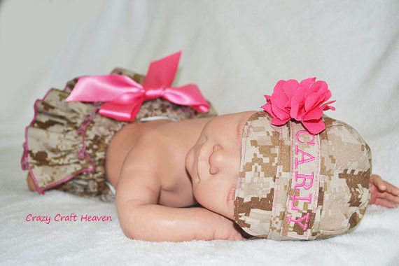 Hey, I found this really awesome Etsy listing at https://www.etsy.com/listing/169395253/baby-girl-military-cap-and-diaper-cover
