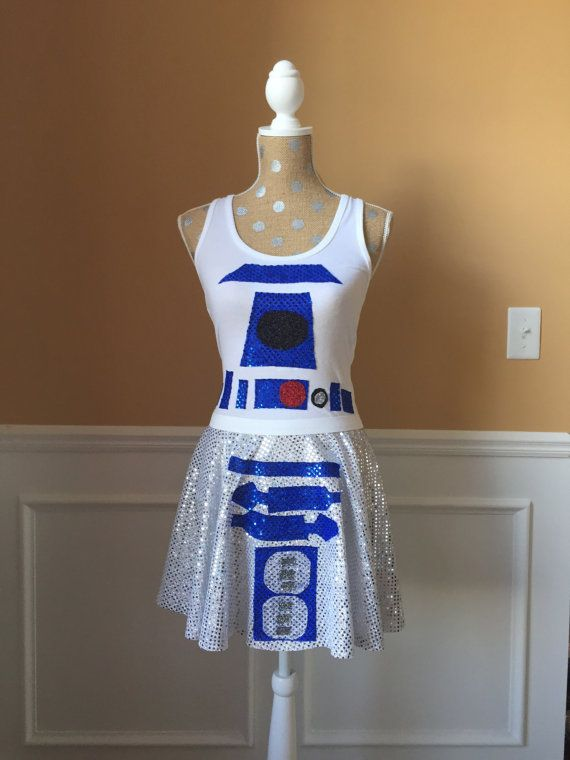 R2D2 Star Wars Inspired Running costume by Fit4aPrincessShop