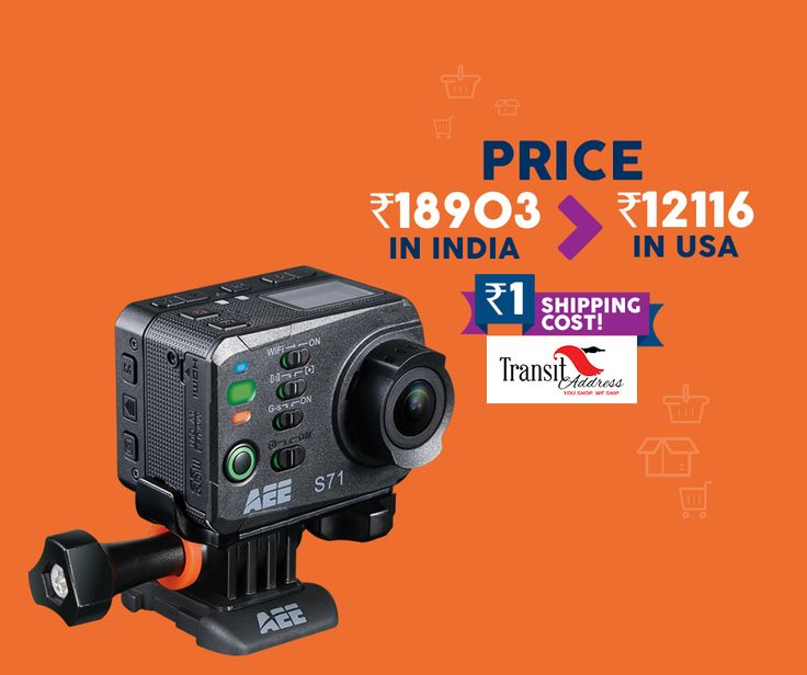 This new year gift your loved one the AEE Technology Action Cam S71 4K 1080P 16MP Slim Body Wi-Fi Waterproof Wireless Action Camera with 2.0-Inch LCD at great discounts with Transit Address at only *Rs 1 shipping charges! Download App Now: https://play.google.com/store/apps/details?id=com.itsyuj.transit #Globalislocalnow #Logistics #Shopping #Shipping