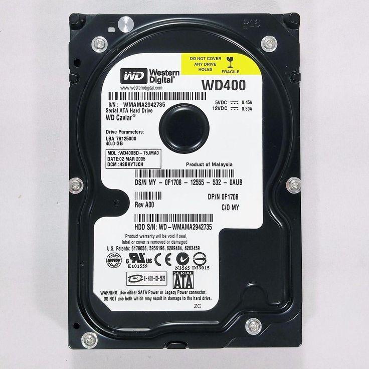 "Western Digital Caviar 40GB SATA 3.5"" Desktop PC Hard Drive HDD  WD400BD-75JMA0 #WesternDigital"