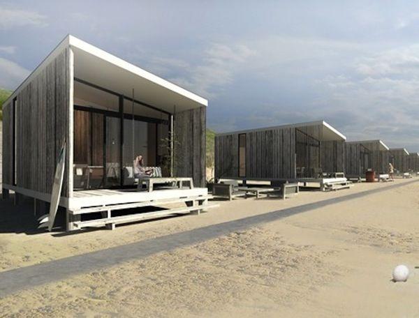 Slapen op het strand van Kijkduin in hippe mini-villa's
