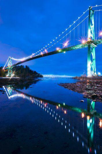 Lions Gate Bridge, Vancouver, Canada Canvas Print / Canvas Art by David Nunuk