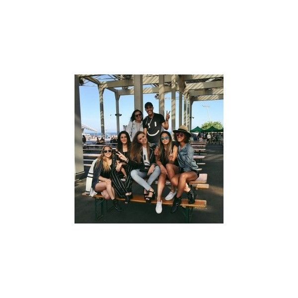 With the crew about to kick it at the Primavera Sound festival!... ❤ liked on Polyvore featuring insta, photos, instagram and other