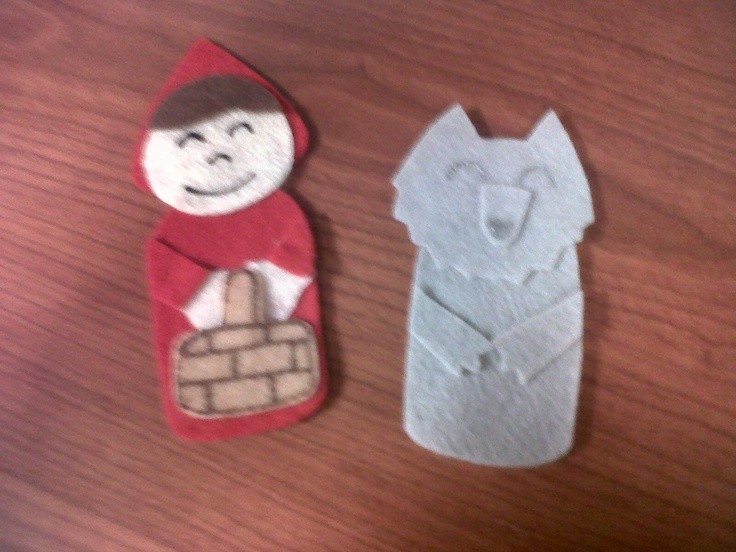 Little Red Riding Hood & Wolf Finger Puppets $3.00