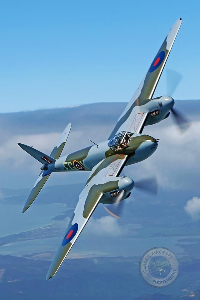 The DeHavilland Mosquito. The joy of flying one of these back in World War II was that you would outrun EVERYTHING!!!