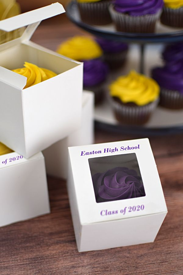 3 X 3 Personalized Standard Cupcake Favor Boxes Set Of 50