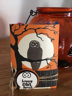 Inking Paper With Kat: Spooky Owl Treat Bag