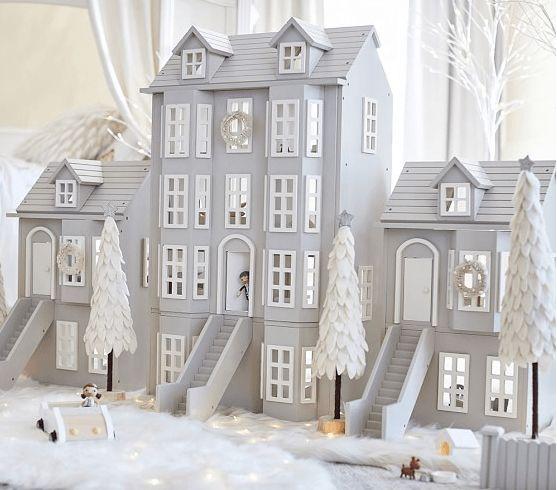 AS CASINHAS DE BONECAS MAIS LINDAS DO MERCADO Casa de bonecas da Pottery Barn