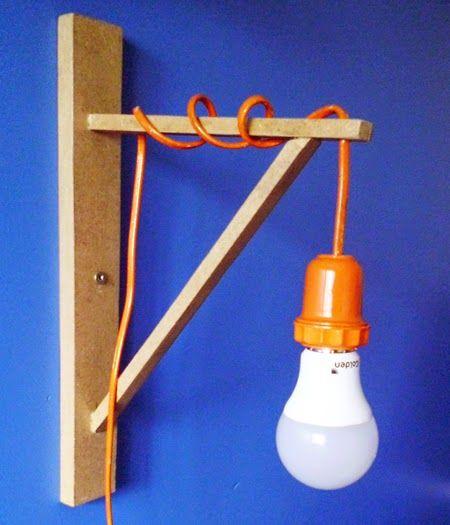 Como fazer uma luminária com mão francesa