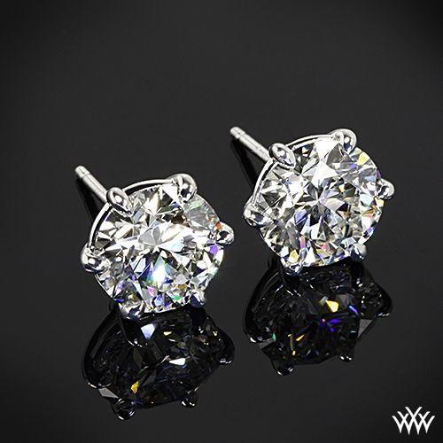 18k White Gold 6 G Martini Earrings Settings Only Diamond And Studs Pinterest