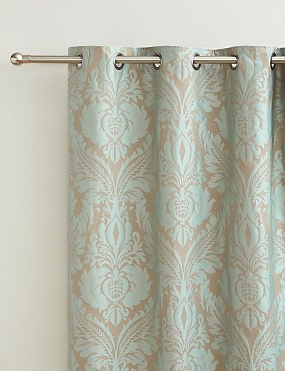 Glamorous Damask Eyelet Curtains | M&S