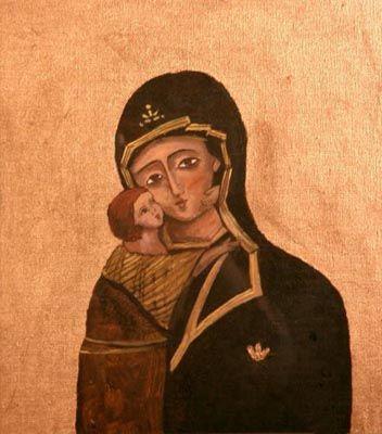 Madonna oro - olio su tela (23x28 cm )