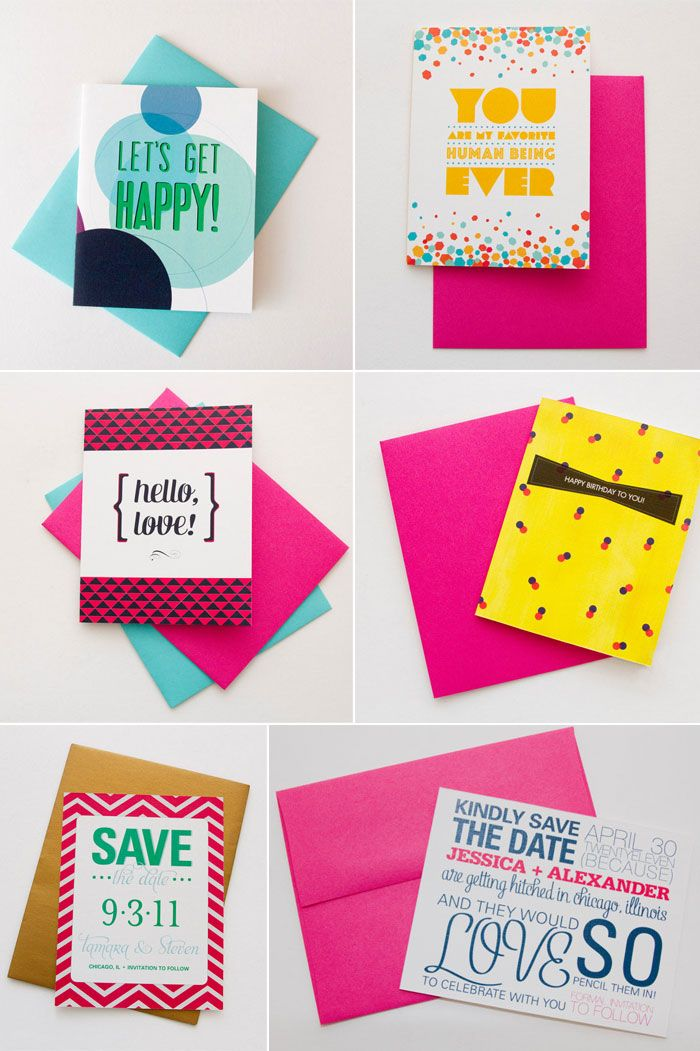 High Fives For Everyone bright neon wedding stationery