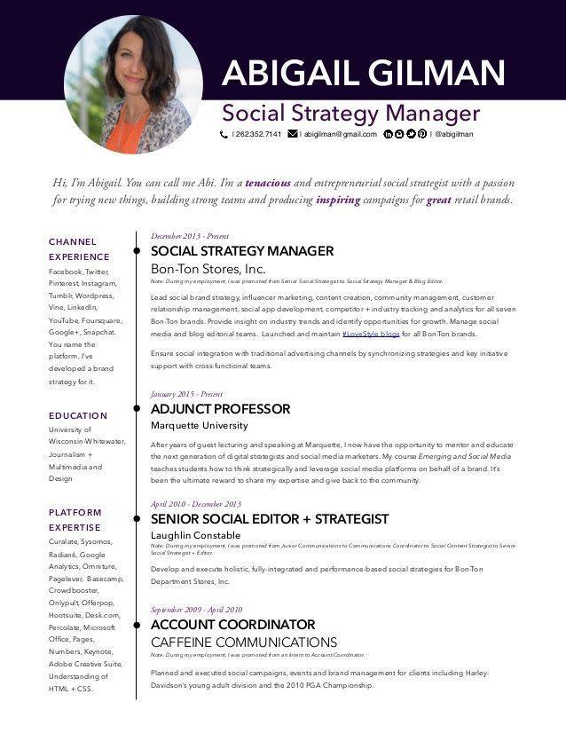 Social Media Marketer Resume More Abigail Gilman Social Media Manager Resume Of 34 Luxury Soc Manager Resume Social Media Manager Social Strategy