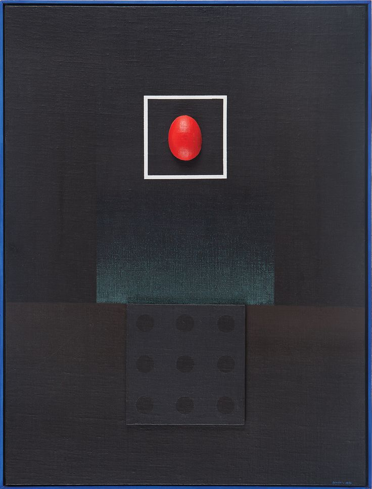 Eric Bowen Medium: Acrylic, plyboard and plaster of paris on canvas pasted on board Year: 1976 Size: 32.5 x 24.7 in.