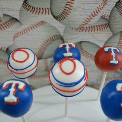 Texas rangers cake balls!