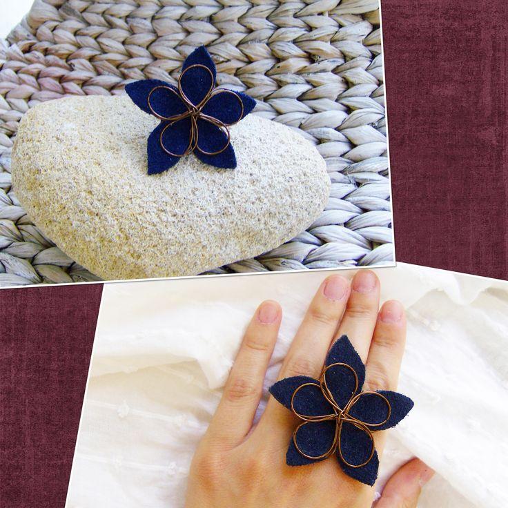 suede flower
