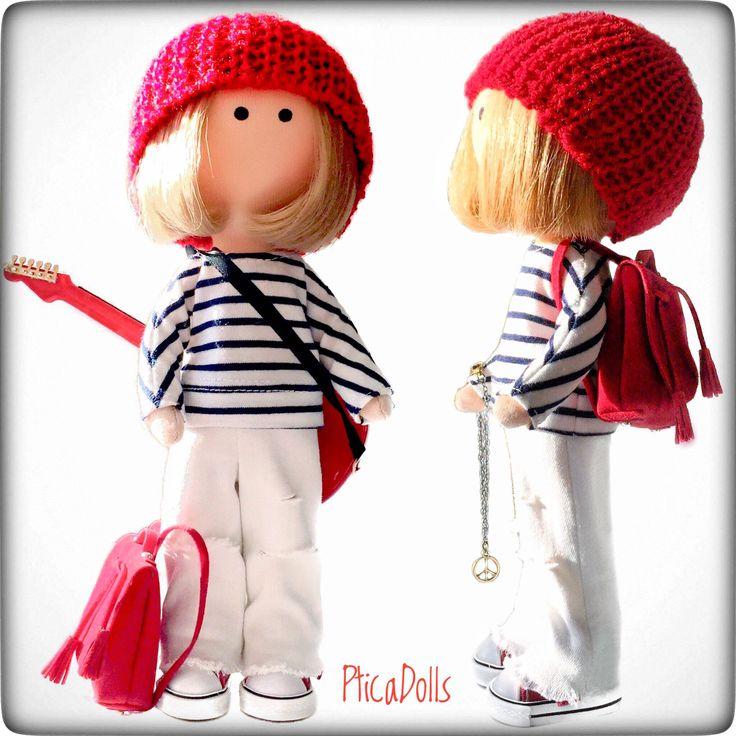 Hippie teen girl by PticaDolls ❤️ Handmade fabric Tilda soft cloth dolls https://www.etsy.com/listing/497940508/hippie-handmade-fabric-tilda-doll