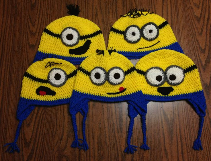 Minion Knit Hat Pattern Free : Best 25+ Crochet minion hats ideas on Pinterest