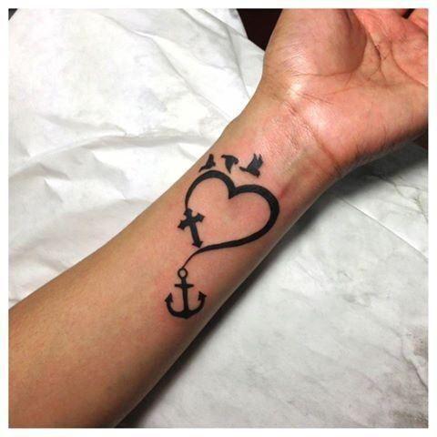 wrist tattoos faith hope love