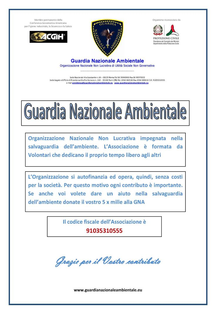 #guardianazionaleambientale #5xmille #5permille