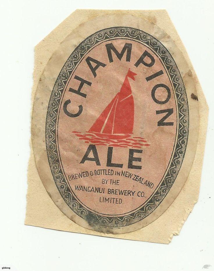 Old Champion beer label, Wanganui, as per scan.