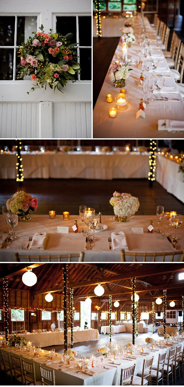 I like the table set up so everyone can see one another with dance floor in the middle