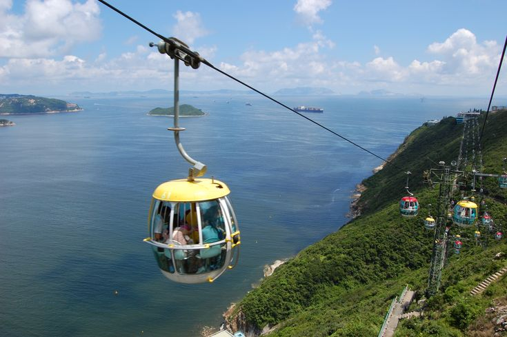 Cable Car Ride Between the Two Parks at Ocean Park