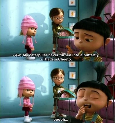 Despicable meLittle Girls, Laugh, Stuff, Funny, Favorite Quotes, Despicable Me, Favorite Movie, Cheetos, Movie Line