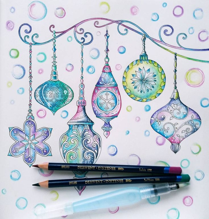 Victorian Baubles With Soap Bubbles From I Used Inktense Pencils Waterbrush And Some Small Highlights White Gel Pen Next Week Ill Try To Get