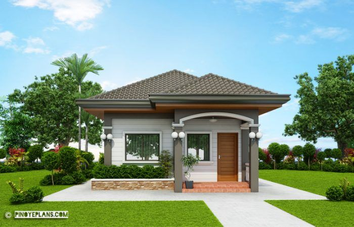 Santa Fe Compact And Functional Two Bedroom House Design In 2020 Two Bedroom House Design Bungalow House Design Modern Bungalow House