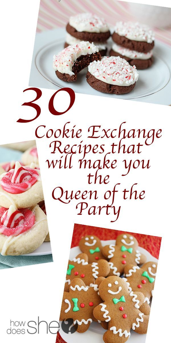30 Cookie Exchange Recipes that will make you the Queen of the Party howdoesshe.com