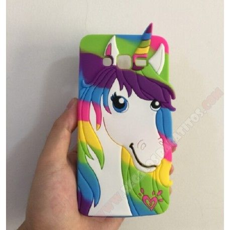 Carcasa para Galaxy Grand Prime diseño unicornio de colores