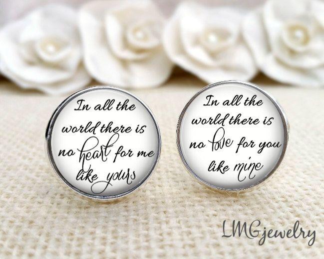 Groom Cufflinks, Wedding Cufflinks, Custom Groom Cufflinks, Gift for Groom, In all the World There Is No by LMGjewelry on Etsy