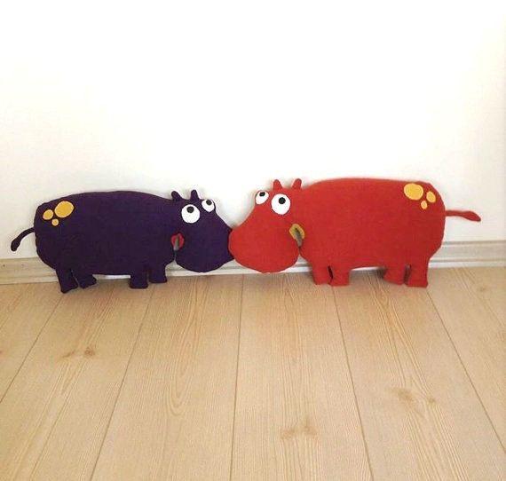 Hippopotamus toddler toy stuffed animal toy soft kids toy