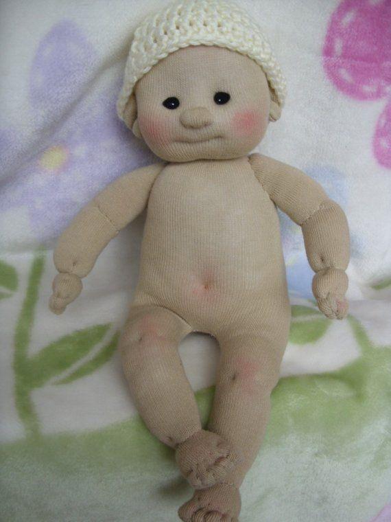 Calcetines bebé muñeca hecha de calcetines Lali por LaliDolls