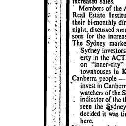 25 Jul 1980 - REAL ESTATE and PROPERTY Canberra market pushed ...
