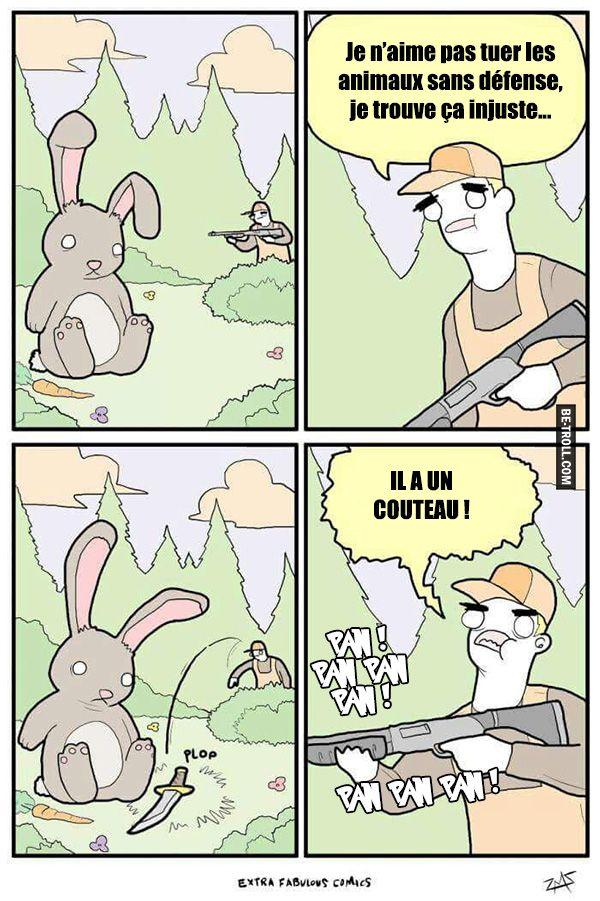 Je n'aime pas tuer les animaux sans défense... - Be-troll - vidéos humour…