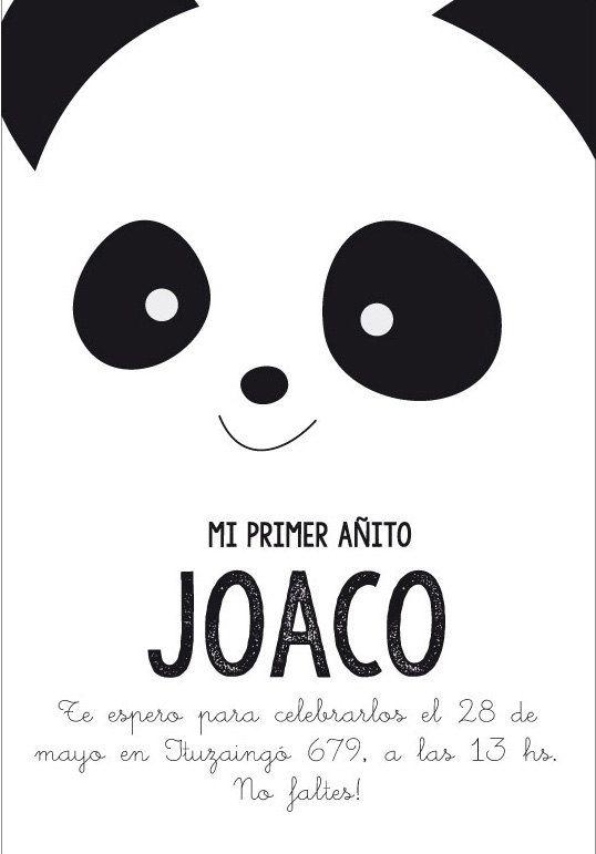 Kit imprimible de cumpleaños Oso Panda. Invitación por CumpleKits